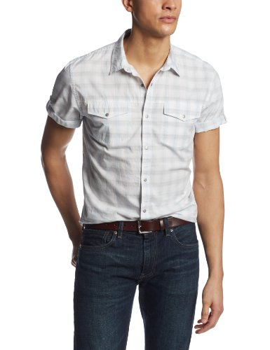 Calvin klein jeans men s short sleeve double for Mens double pocket short sleeve shirts