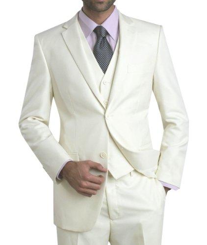 XGEW.com | Angelo Rossi Mens Suit 2 Button 3 Piece Modern Fit Cream